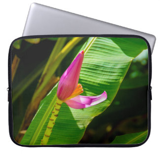 Banana Flower, Limahuli Gardens, Kauai Wetsuit Laptop Sleeve