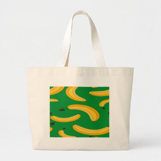 Banana fruit pattern large tote bag