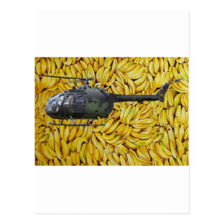 BANANA HELICOPTER POSTCARD