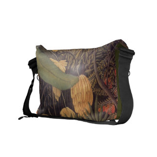 Banana Jungle By Henri Rousseau Rickshaw Messenger Courier Bags