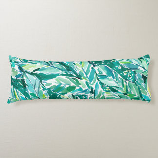 BANANA LEAF JUNGLE Green Tropical Body Pillow