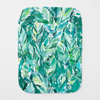 BANANA LEAF JUNGLE Green Tropical Burp Cloth