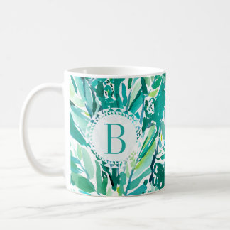 BANANA LEAF JUNGLE Green Tropical Coffee Mug