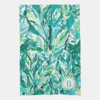 BANANA LEAF JUNGLE Green Tropical Kitchen Towel