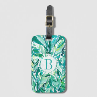 BANANA LEAF JUNGLE Green Tropical Luggage Tag