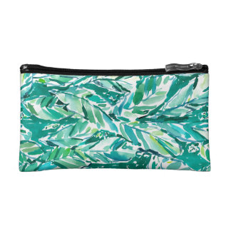 BANANA LEAF JUNGLE Green Tropical Makeup Bag