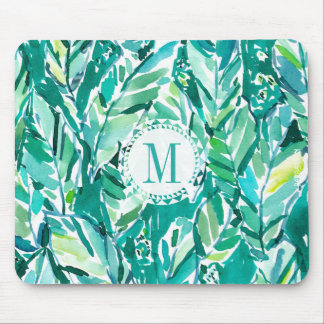BANANA LEAF JUNGLE Green Tropical Mouse Pad
