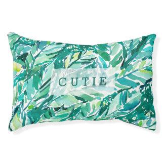 BANANA LEAF JUNGLE Green Tropical Pet Bed