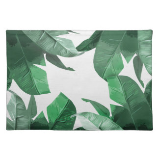 Banana Leaf Print Placemats