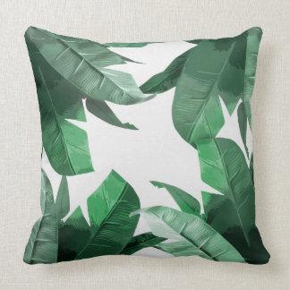 Banana Leaf Print Polyester Throw Pillow