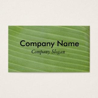 Banana leaf texture business card