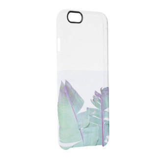 Banana leaf tree palms iridescent clear iPhone 6/6S case