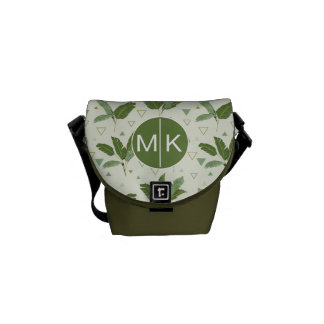 Banana Leaf With Triangles | Monogram Commuter Bags