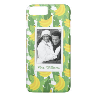 Banana Leaves | Add Your Photo & Name iPhone 7 Plus Case