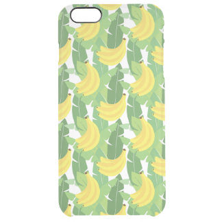 Banana Leaves And Fruit Pattern Clear iPhone 6 Plus Case