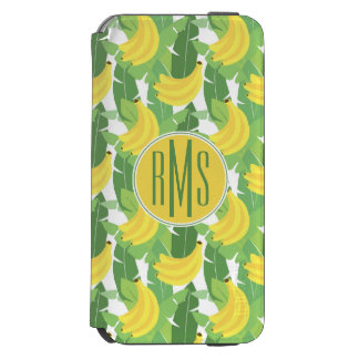 Banana Leaves And Fruit Pattern | Monogram Incipio Watson™ iPhone 6 Wallet Case
