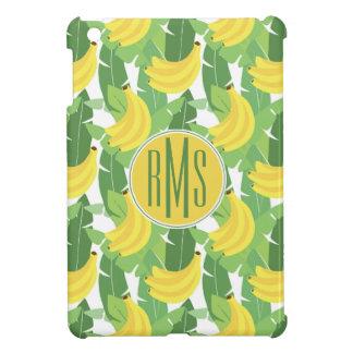 Banana Leaves And Fruit Pattern   Monogram iPad Mini Cases