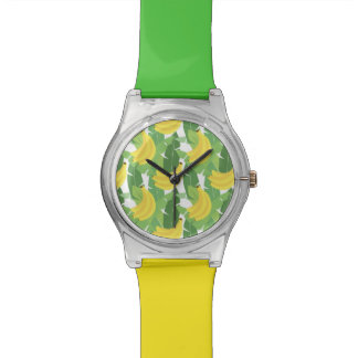 Banana Leaves And Fruit Pattern Wristwatches