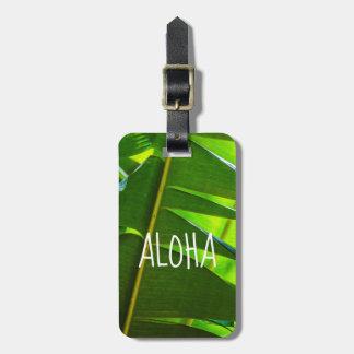 Banana Leaves, McBryde Garden, Kauai, Hawaii-Aloha Luggage Tag