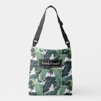 Banana Leaves Palm Tree Tropical Cross Body Bag