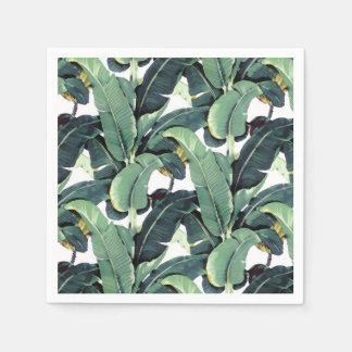 Banana Leaves Palm Tree Tropical Paper Napkins