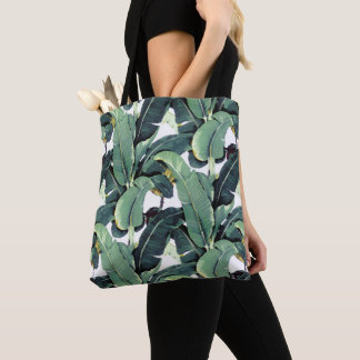 Banana Leaves Palm Tree Tropical Print Tote Bag