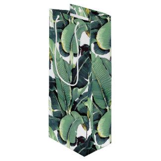 Banana Leaves Palm Tree Tropical Wine Gift Bag