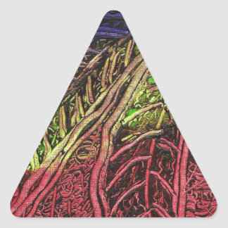 Banana Leaves Triangle Sticker