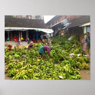 Banana market poster