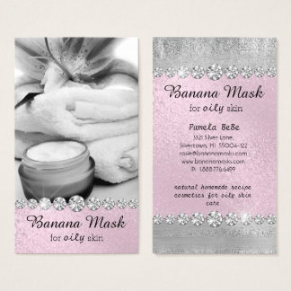 Banana Mask Skincare Cream Homemade Spa Recipe Oil Business Card