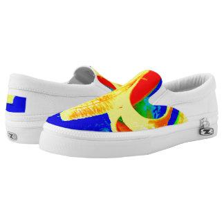 Banana on Blue Unisex slip on sneaker