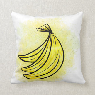Banana on the front Pineapple on the back Throw Pillow