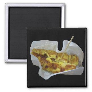 Banana Pancake [Roti Kluai Khai] Square Magnet