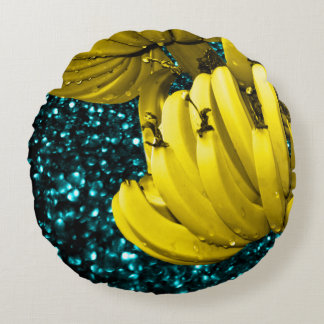 Banana Paradise Round Pillow