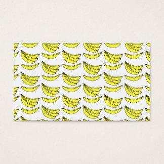 Banana Pattern. Business Card