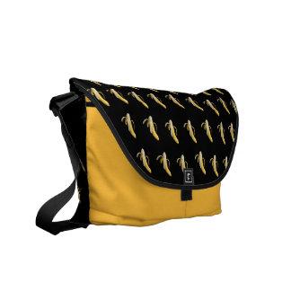 Banana Pattern - Custom Messenger Bag (Dark)
