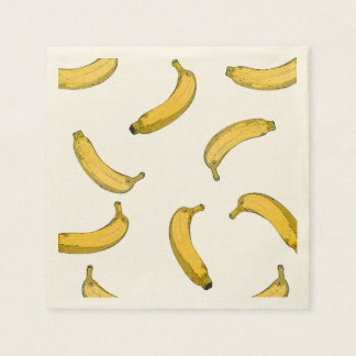 banana pattern disposable napkins