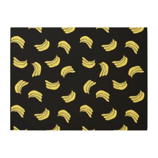 Banana Pattern Wall Art Wood Print