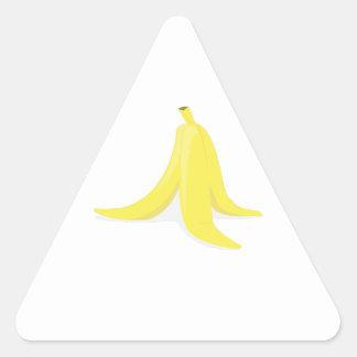 Banana Peel Triangle Sticker
