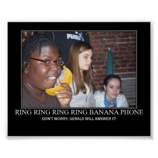 banana phone ring ring poster