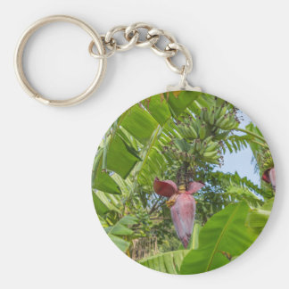Banana plantation in Sok Kwu Wan Lamma Island Basic Round Button Keychain