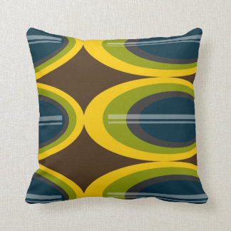 Banana Plantation - Retro Throw Pillow
