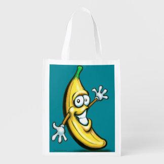 Banana Reusable Grocery Bags