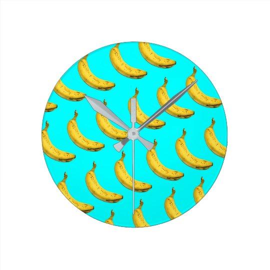 Banana Round Clock