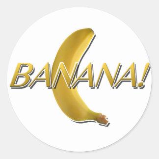 BANANA! ROUND STICKER