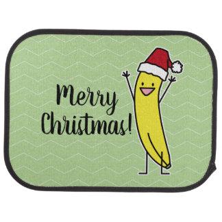 Banana Santa hat cheering Christmas holiday Car Mat