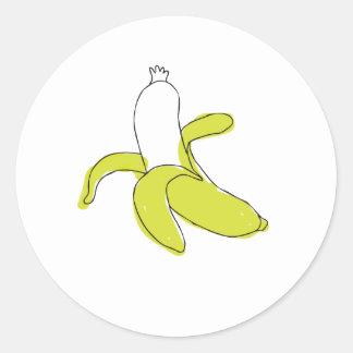 banana-sausage-sticker round sticker