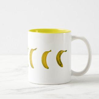 banana-skateboard Two-Tone coffee mug