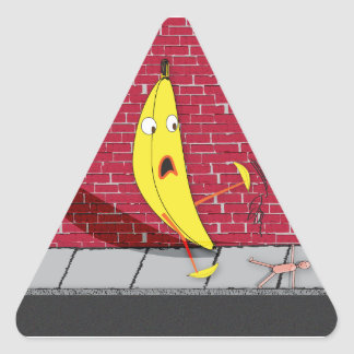 Banana Slipping on a Person Sticker