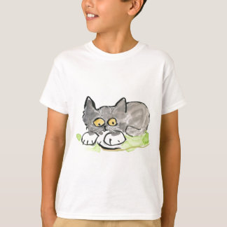 Banana Slug and Tiny Gray Kitten T-Shirt